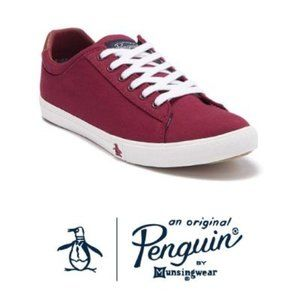 Original Penguin Mens Red Dane Canvas Sneaker 11.5